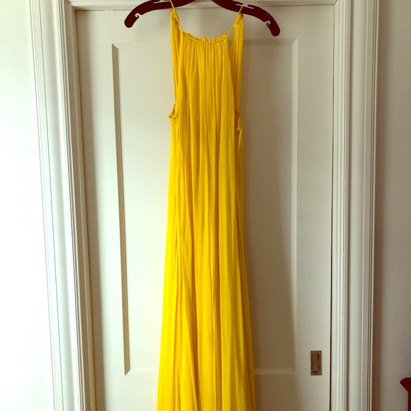 ASOS Dresses & Skirts - ASOS High Neck Swing Maxi Dress - Yellow